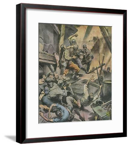 Stalingrad Battle-Rino Ferrari-Framed Art Print