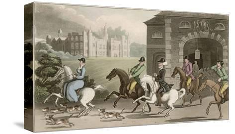 A Noble Hunting Party-Thomas Rowlandson-Stretched Canvas Print