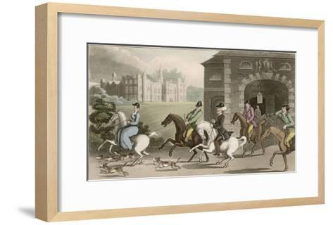 A Noble Hunting Party-Thomas Rowlandson-Framed Art Print
