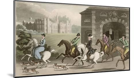 A Noble Hunting Party-Thomas Rowlandson-Mounted Giclee Print