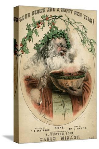 Santa and Punchbowl-W Brandard-Stretched Canvas Print