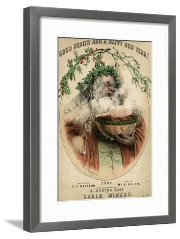 Santa and Punchbowl-W Brandard-Framed Art Print