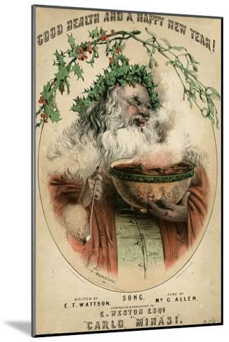Santa and Punchbowl-W Brandard-Mounted Giclee Print