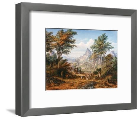 The Lion Family-Thomas Baines-Framed Art Print