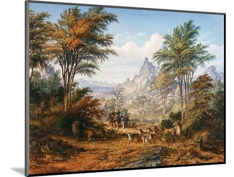 The Lion Family-Thomas Baines-Mounted Giclee Print
