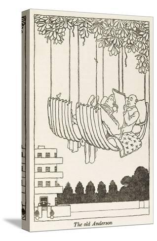 WWII Recycling: Anderson Hammock-William Heath Robinson-Stretched Canvas Print
