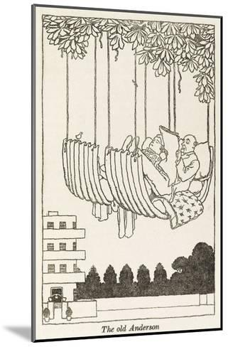 WWII Recycling: Anderson Hammock-William Heath Robinson-Mounted Giclee Print