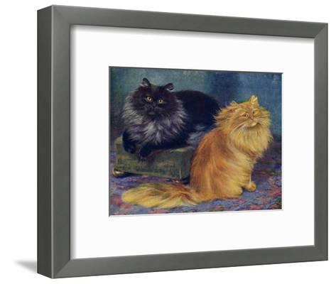 Smoke, Orange Persians-W^ Luker-Framed Art Print