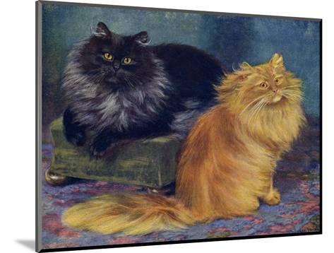 Smoke, Orange Persians-W^ Luker-Mounted Giclee Print