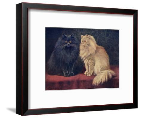 Blue, Cream Persian Cats-W^ Luker-Framed Art Print