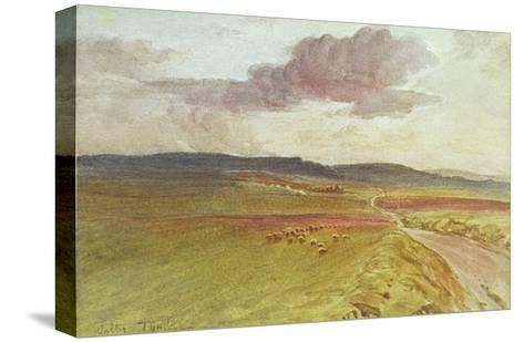 Wessex, Nr Maiden Castle-Walter Tyndale-Stretched Canvas Print