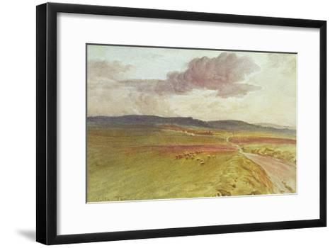 Wessex, Nr Maiden Castle-Walter Tyndale-Framed Art Print
