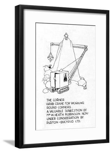 The Corner Grab Crane-William Heath Robinson-Framed Art Print
