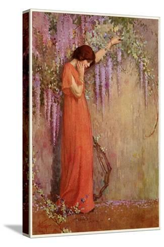 The Wisteria Girl-William A Hottinger-Stretched Canvas Print