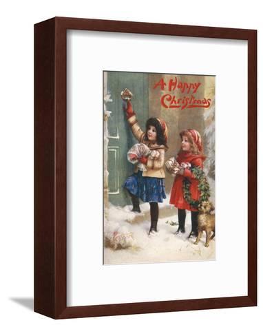 Children Visiting--Framed Art Print