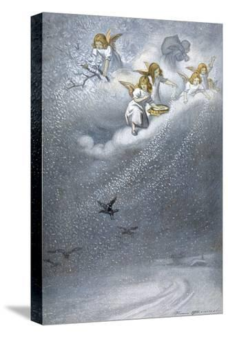 Angels Make Snow--Stretched Canvas Print