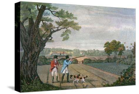 Partridge Shoot 1830--Stretched Canvas Print
