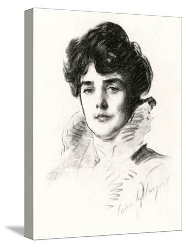 Jennie, Lady Churchill--Stretched Canvas Print