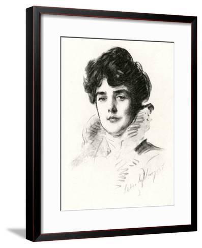 Jennie, Lady Churchill--Framed Art Print