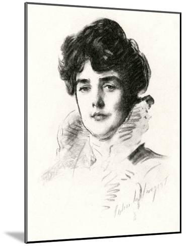 Jennie, Lady Churchill--Mounted Giclee Print