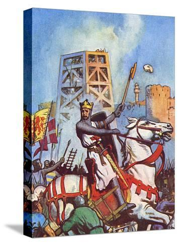 Third Crusade - Richard I at the Siege of Acre--Stretched Canvas Print