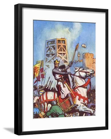 Third Crusade - Richard I at the Siege of Acre--Framed Art Print