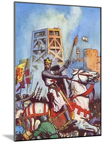 Third Crusade - Richard I at the Siege of Acre--Mounted Giclee Print