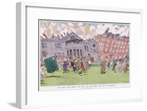 The Man Who Missed the Ball on the First Tee at St. Andrews--Framed Art Print