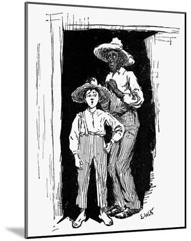 Huckleberry Finn and Jim--Mounted Giclee Print