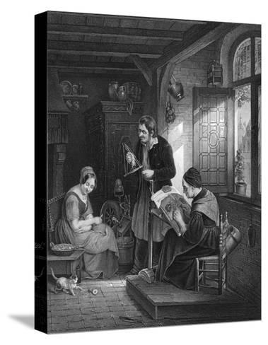 Lace Making, Flanders--Stretched Canvas Print