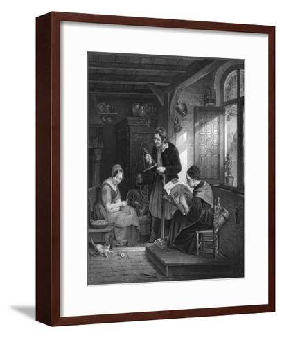 Lace Making, Flanders--Framed Art Print