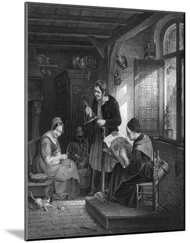 Lace Making, Flanders--Mounted Giclee Print