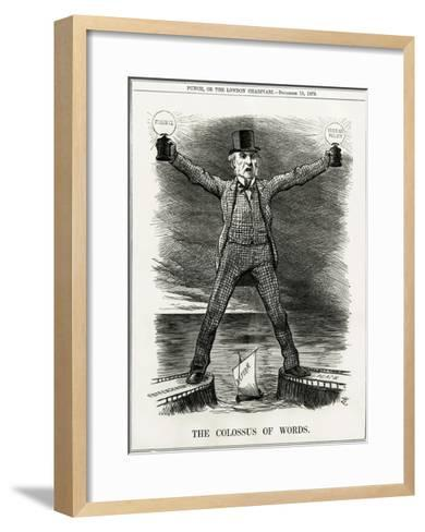 We Gladstone, Colossus--Framed Art Print