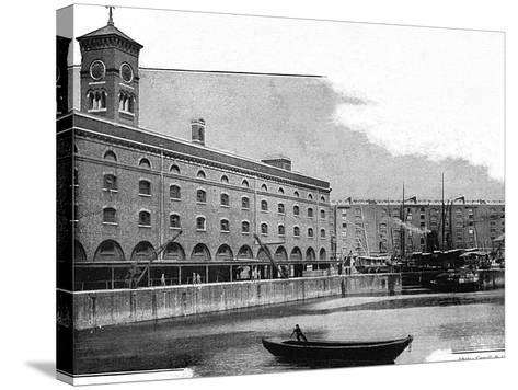 St Katharine's Dock, 1902--Stretched Canvas Print
