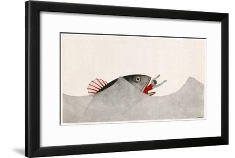 Jonah and the Whale-AE Marty-Framed Art Print