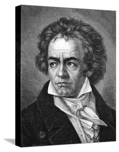 Beethoven-A Close-Stretched Canvas Print