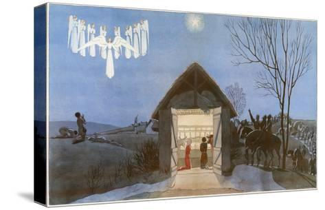 The Nativity-AE Marty-Stretched Canvas Print