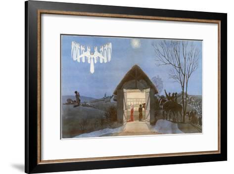 The Nativity-AE Marty-Framed Art Print