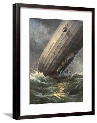 'Akron' Crashes 1933-Achille Beltrame-Framed Art Print