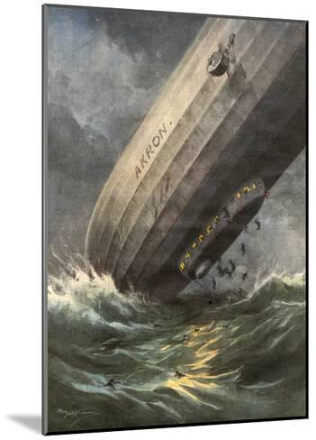 'Akron' Crashes 1933-Achille Beltrame-Mounted Giclee Print