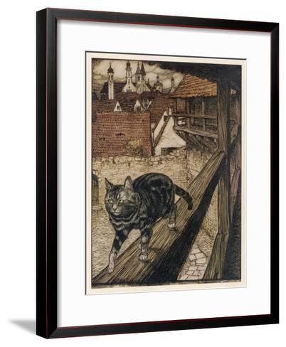 Cat and Mouse-Arthur Rackham-Framed Art Print