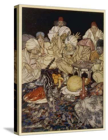 Dick Whittington-Arthur Rackham-Stretched Canvas Print