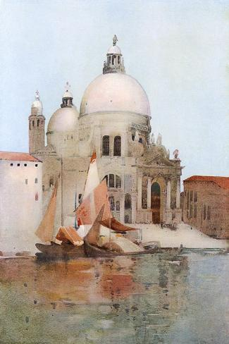 Venice, S Maria Salute-Arthur Melville-Stretched Canvas Print