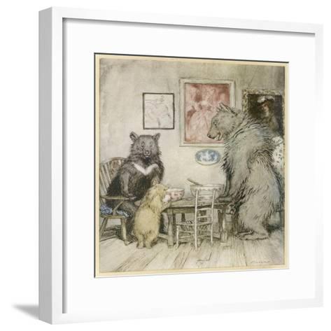 Goldilocks, Fairy Tales-Arthur Rackham-Framed Art Print