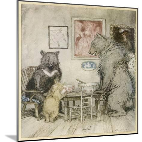Goldilocks, Fairy Tales-Arthur Rackham-Mounted Giclee Print