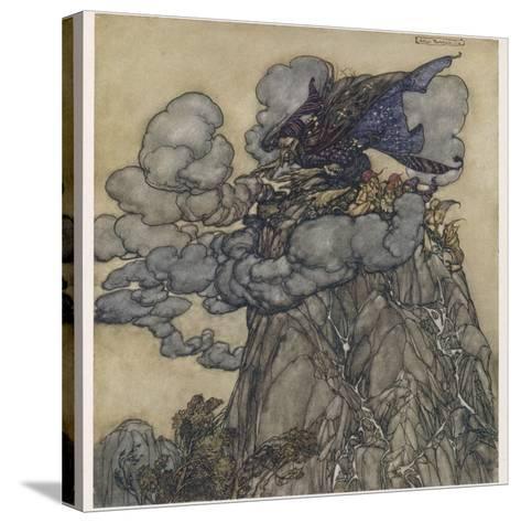Witch Brews Storm-Arthur Rackham-Stretched Canvas Print