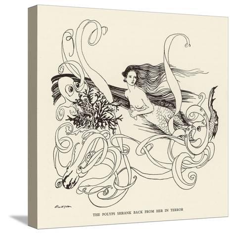 Mermaid, Octopus Rackham-Arthur Rackham-Stretched Canvas Print