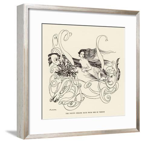 Mermaid, Octopus Rackham-Arthur Rackham-Framed Art Print