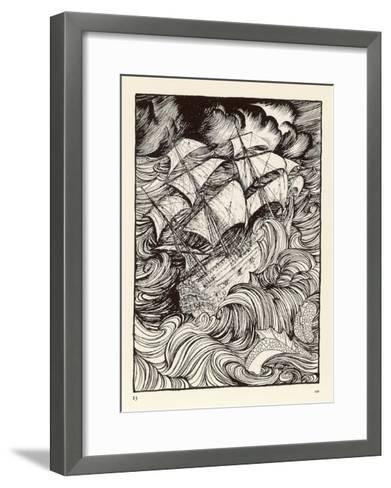 Folklore, Sea Serpent-Arthur Rackham-Framed Art Print
