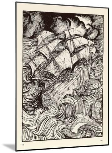 Folklore, Sea Serpent-Arthur Rackham-Mounted Giclee Print